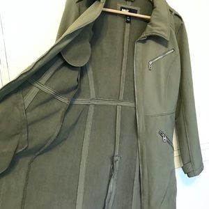 EUC. MISS SIXTY army green all-weather coat